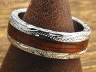 他の写真1: ハワイアンコアウッド幅6mmシルバー925リング・指輪